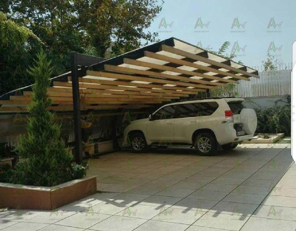 سایبان چوبی پارکینگ