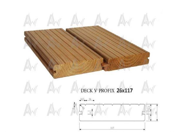 خرید ترمووود DECK V 26 x 117_آراد چوب ایرانیان