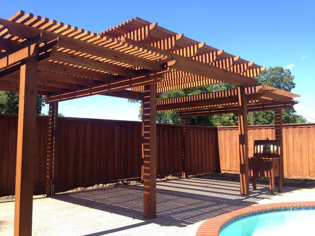 پرگولا(pergola) ساختار یا سازه چوبی مسقف